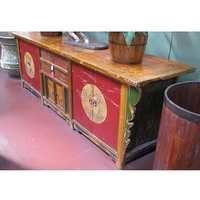 Gan Su Original Painted Side Board with Drawers