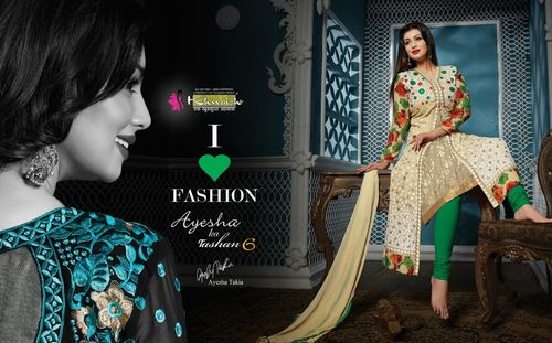Long Style Embroidery Work Salwar Kameez