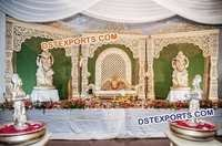 Bollywood Style Wedding Stage Set