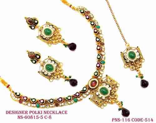 Pearl Drop Necklace Set
