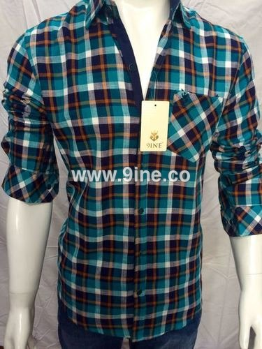 CHECK SHIRTS WITH 9INE BRAND - 100/1