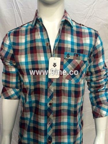 MEN'S CHECK SHIRTS - 36/1