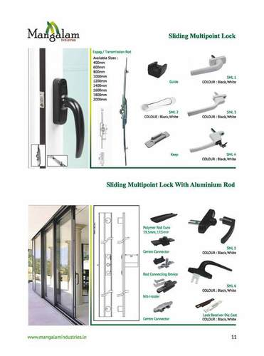 Sliding Multipoint Lock