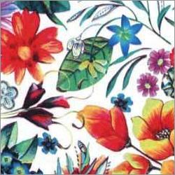 Floral Print Leather Transfer Foil