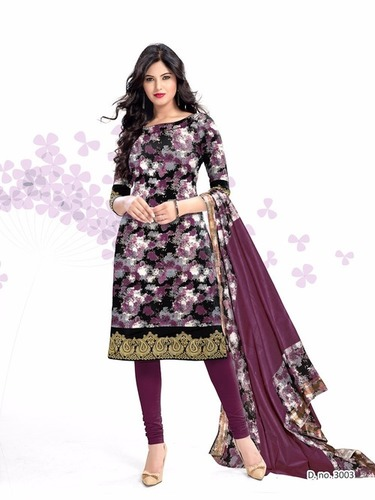 Kavya Resham Border Dupatta & Cotton Salwar Suits