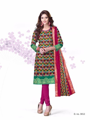 Kavya Cotton Salwar Suits With Resham Dupatta