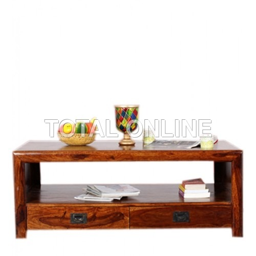 Artistic Low Coffee Table Made of Sheesham Wood