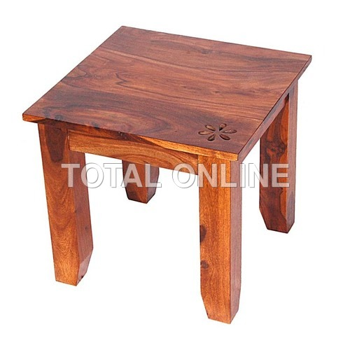 Artistic Small Coffee Table With Tapered Feet