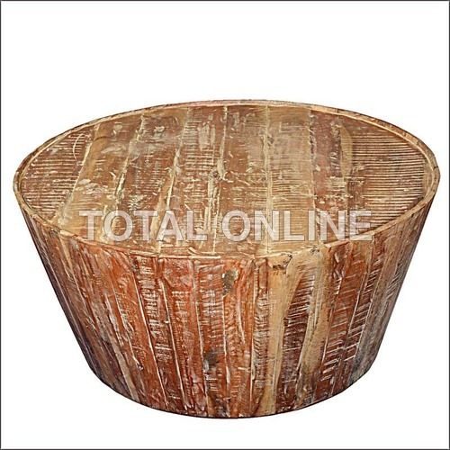 Round Shape Wooden Coffee Table