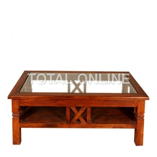 Well Designed Centre Table With Glass Surface