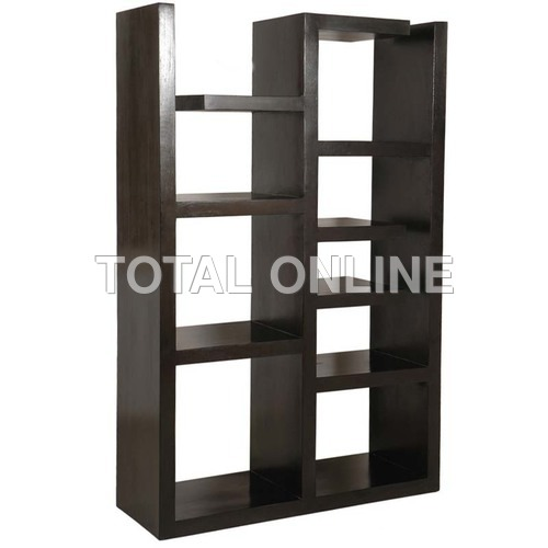 Black Coloured  Multiple Shelves Containing Book