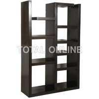 Black Coloured  Multiple Shelves Containing Book