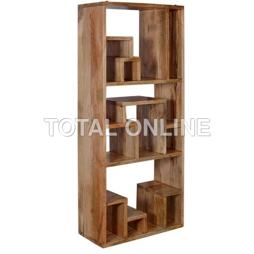 Modern Vertical Open Wooden Book Shelf