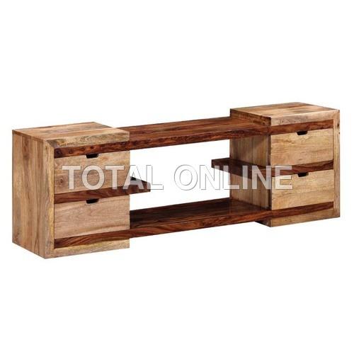 Contemporary Wooden Entertainment Unit