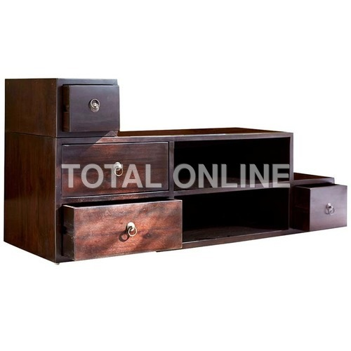 Stair Style Wooden Entertainment Unit