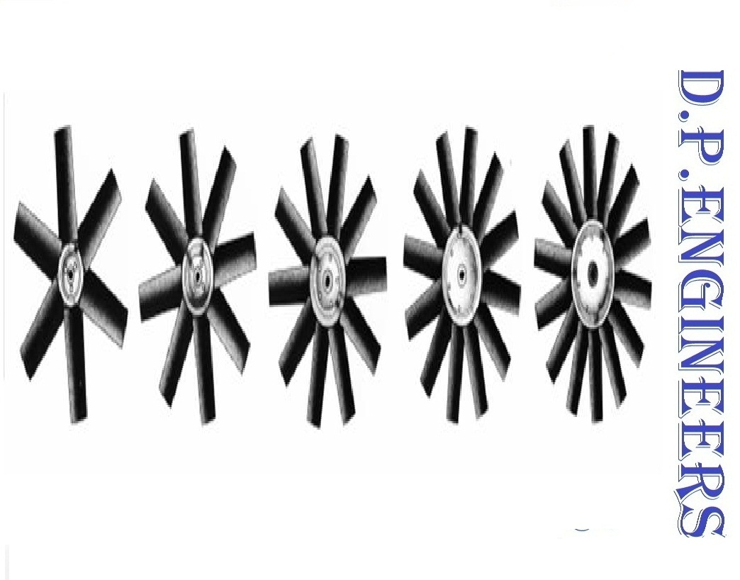 Aluminum Casted Axial Flow Fan Blade