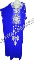 Dubai royal blue farasha kaftan