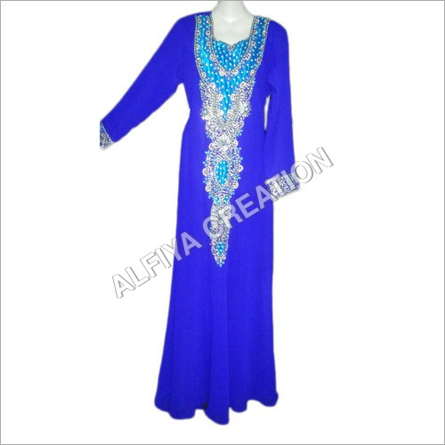 Heavy stone work fancy dubai maxi dress kaftan