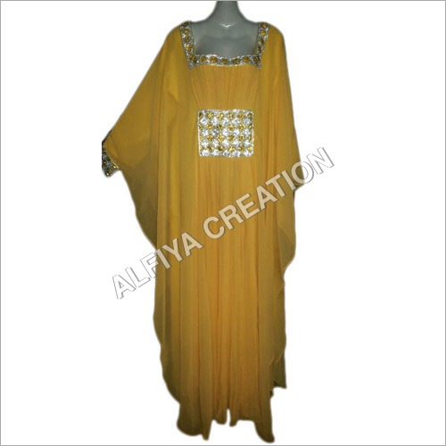Long sleeves designer kaftan dress