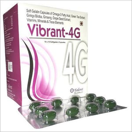 Omega-3 Ginseng Vitamins Minerals Soft Gelatin Cap