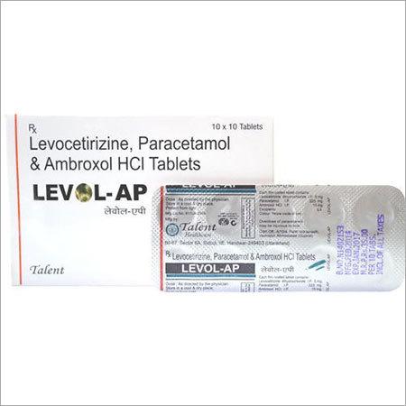 Levocetirizine, Paracetamol and Ambroxol HCL Tablets