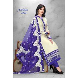 White Classic Embroidery Salwar Suit
