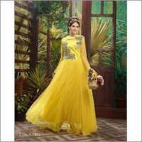Yellow Traditional Designer Long Gown