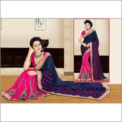 Dark Blue Stylish Saree