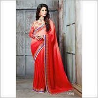 Orange Wedding Wear Saree