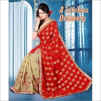 Red Exclusive Designer Traditional Wear Saree