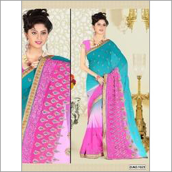 Designer Georgette and Chiffon Saree