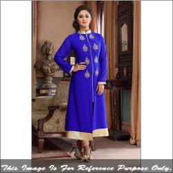 Blue Georgette Designer Kurti