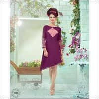 Purple Georgette Casual Wear Kurti