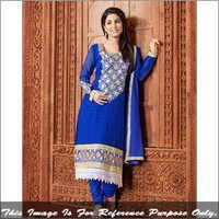 Blue Georgette Party Wear Salwar Suit