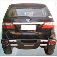 Fortuner Ss And Pu Rear Double Pipe Guard With Lig