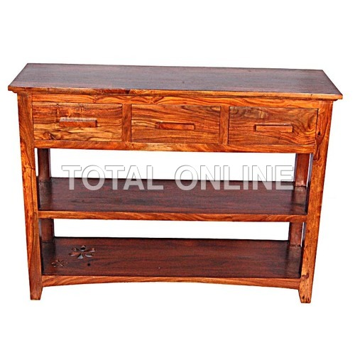 Ravishing Large Console Table With Two Shelves