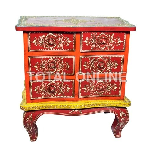 Wooden Hand Painted Sideboard With Drawers