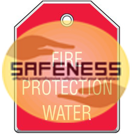 Fire Protection Water Valve Tags