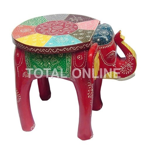Flashy Red Elephant With Circular Surface