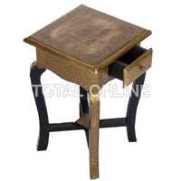 Small Square Shape Wooden Stool With Drawer