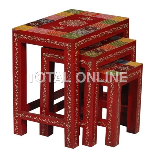 Exquisite Wooden Nested Table Set