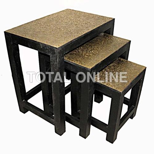 Set of Wooden Handmade Nesting Tables