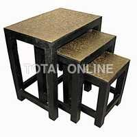 Set of Wooden Handmade Nesting Tables
