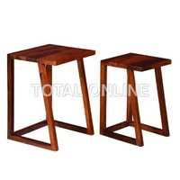 Wooden Nested Table Set