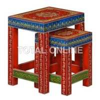 Red and Blue Nested Table Set