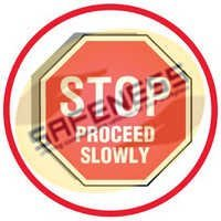 Cold Adhesion Anti-Slip Floor Markers - Stop Proceed Slowly