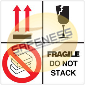 Fragile Do Not Stack Package Handling Label