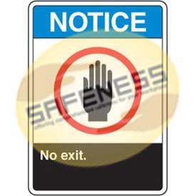 ANSI Signs - Notice No Exit
