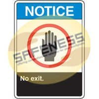 ANSI Signs - Notice No Exit