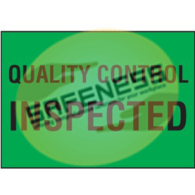 Color-Coded QC Labels - Quality Control Inspected